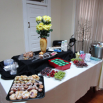 Breakfast spread in the Magnolia Conference Room.
