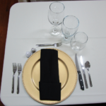 This was the place setting for each individual at the private dinner.
